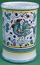 Green Orvieto Wine Bottle Utensil Holder