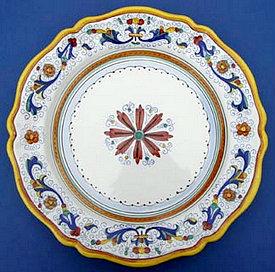 Ricco Deruta Scalloped Round Serving Plate