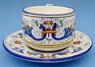 Vecchia Deruta Coffee Tea Cup and Saucer