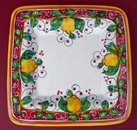 Limone Rosso Square Plate