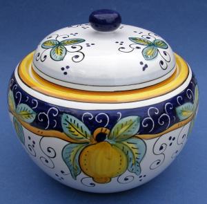 Limone Biscotti Jar