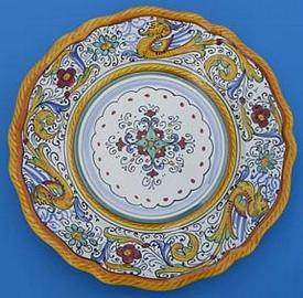 Raffaellesco Scalloped Salad Dessert Plate