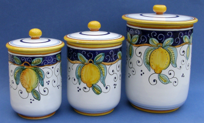 Limone 3 piece Canister Set