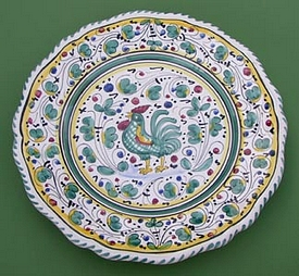Green Orvieto Italian Dinnerware Set pattern