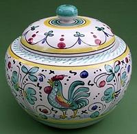 Green Orvieto Biscotti Jar - Round